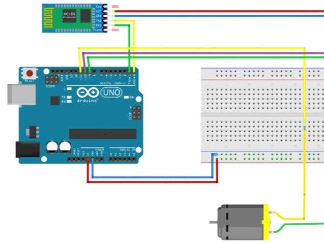 Bluetooth Controlled DC Motor & LED
