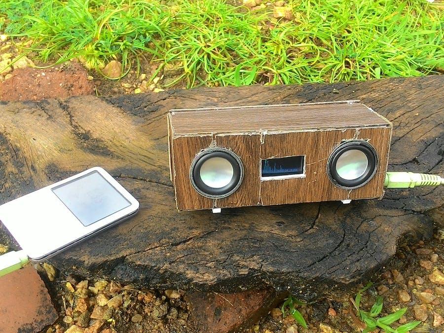 Bluetooth Speaker with Spectrum Analyser