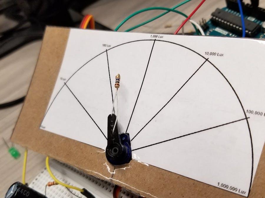 Servo Brightness Gauge - Arduino Project Hub