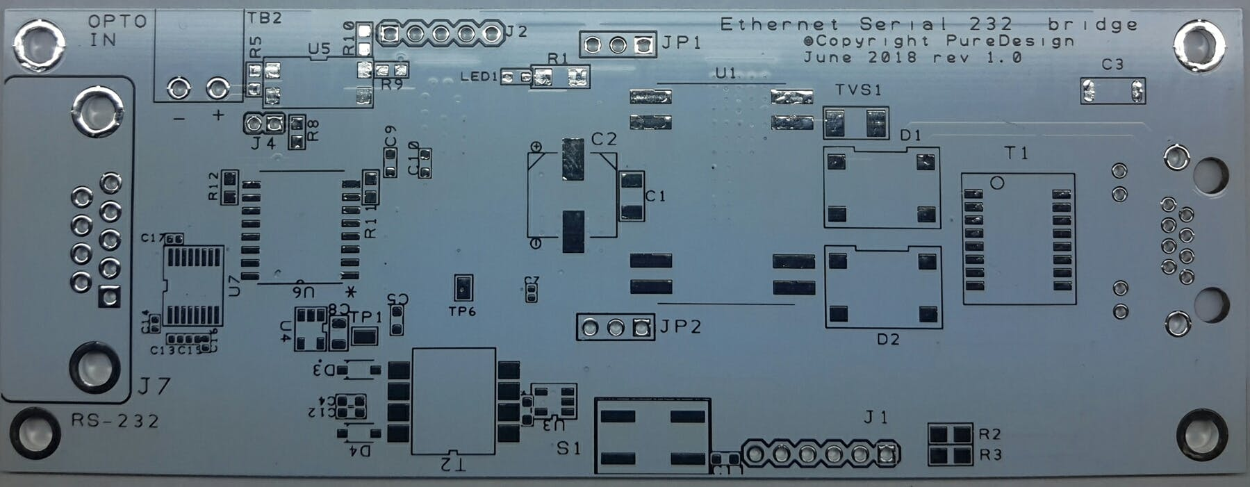 bare PCB Top Layer.