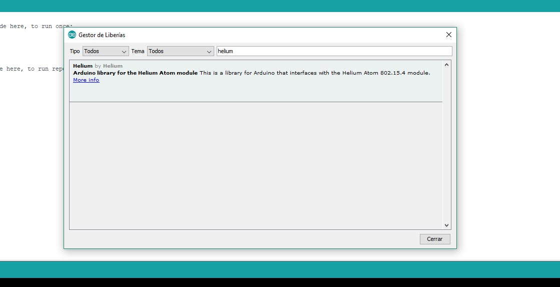 INSTALATION AND CONFIGURATION ARDUINO TO HELIUM CONECTION