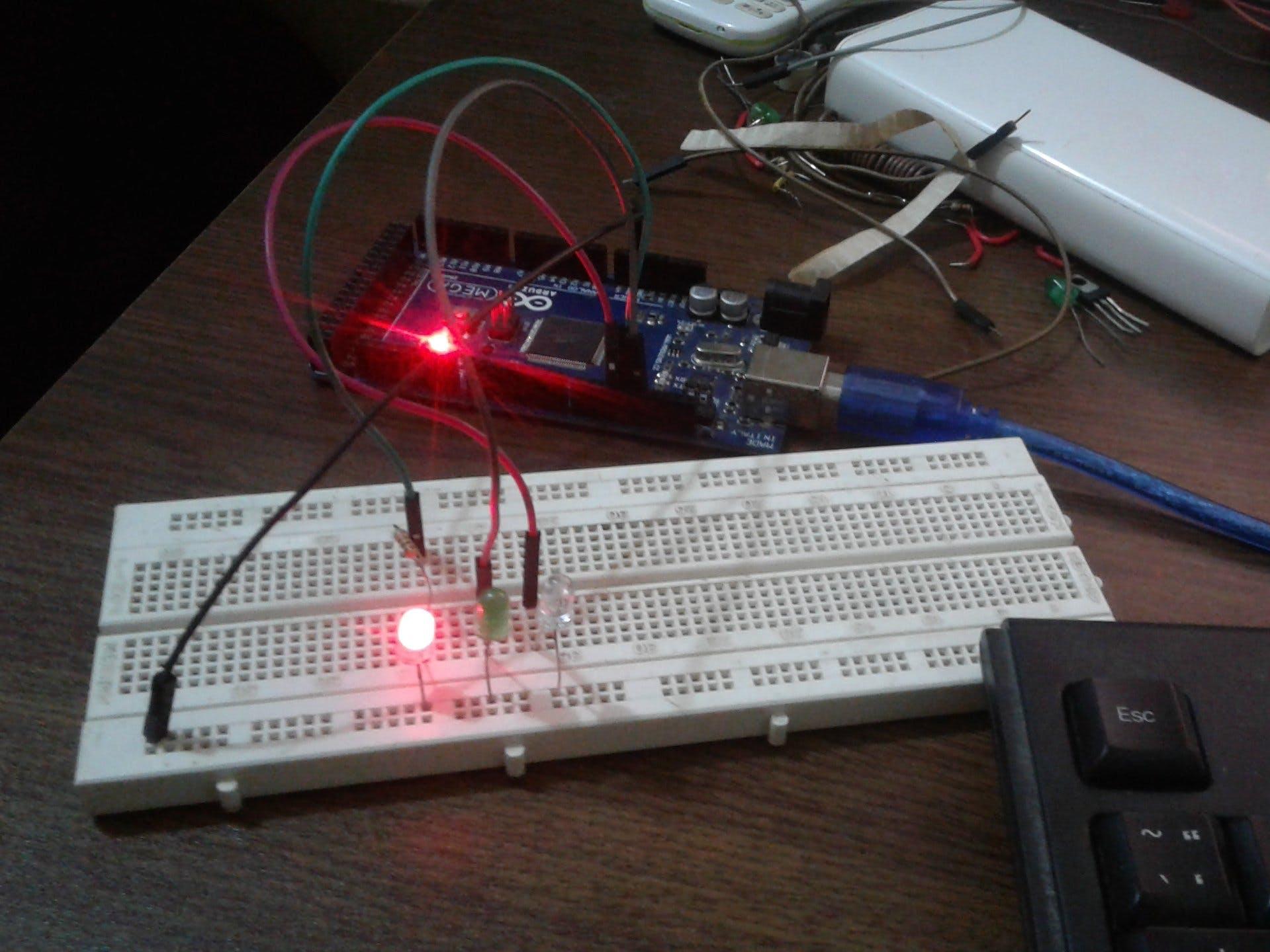 LED Blinking with Arduino MEGA 2560