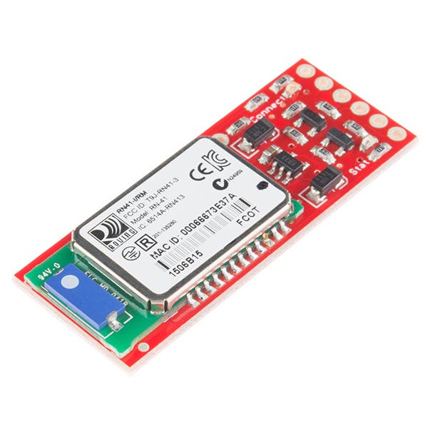 The SparkFun BlueSmirf Gold module.  The silver module should also work.....