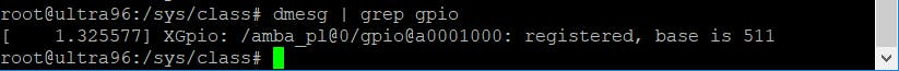 GPIO as detected by the PetaLinux Build