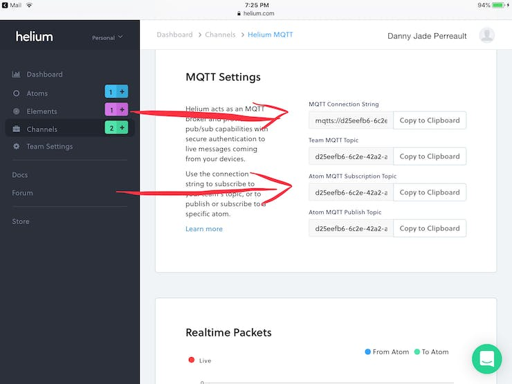 You MQTT connection information