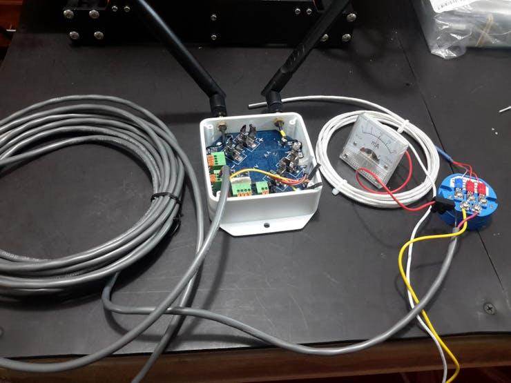 4-20 mA setup for PT100 sneor using transducer