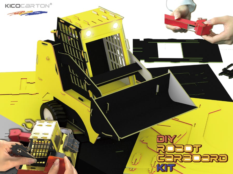 The DIY Bots Chassis Has Replaceable Cardboard to Learn Code
