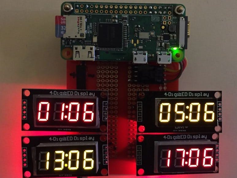 Raspberry Pi Amateur Radio Digital Clock - Hackster io