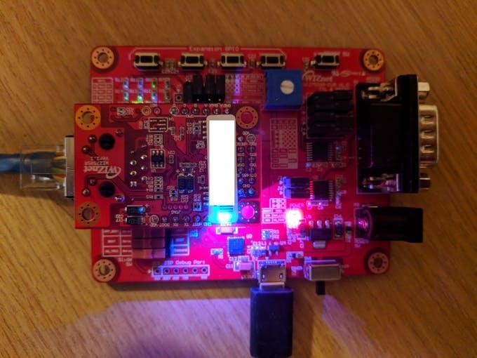 WIZ750SR powered on
