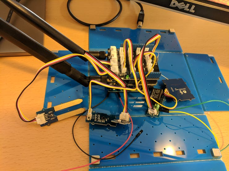Arduino attached to all sensors