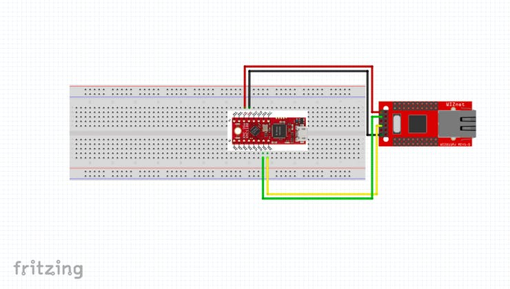 Wiring Frame for WIZ750SR to Infineon 3DGo