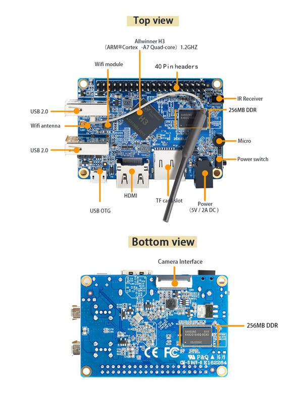 orange pi lite : image courtesy orange pi website