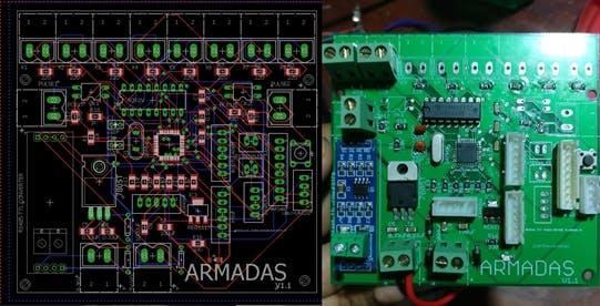 Figure 3- ARMADAS board