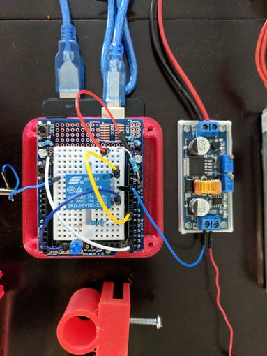 Arduino Uno with relay circuit and buck converter