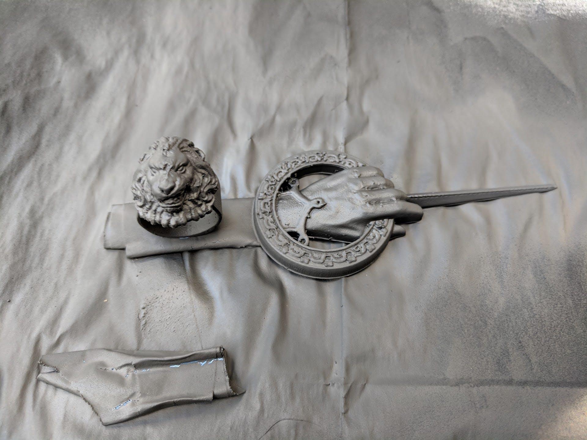 Conductive paint on 3D prints