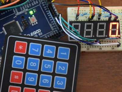 Control 7-Segment with Keypad and Arduino
