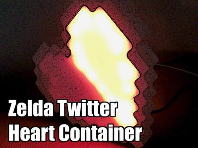 Twitter Activated Zelda Heart Container