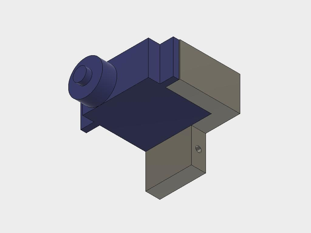 Attach one servo, the screw fits into the hole in the inner part