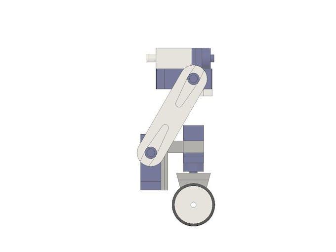 Assembled fr/rl leg