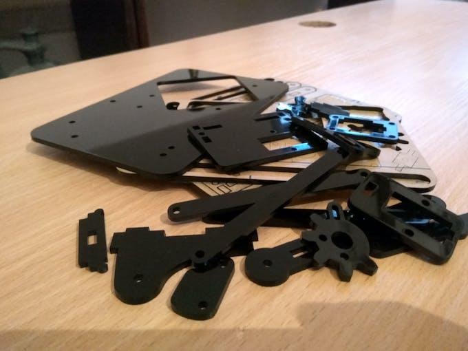 Assembling the robot arm
