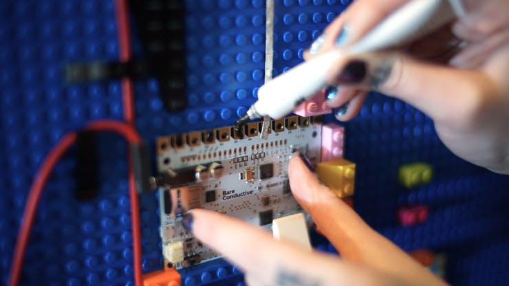Apply Electric Paint to each Electrode on Touch Board