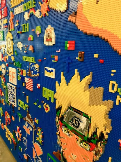LEGO Wall in Building 14 at Facebook