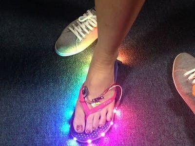 Slipper Shining with LED strip & Xadow