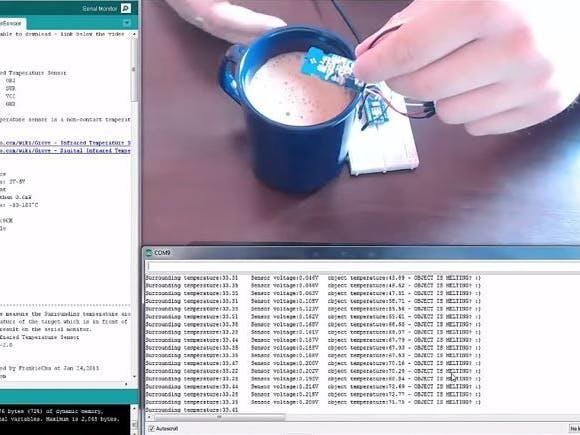 Arduino and Infrared Temperature Sensor