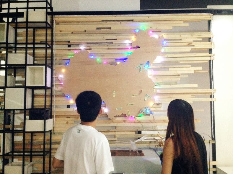 LED demonstration with People Detection