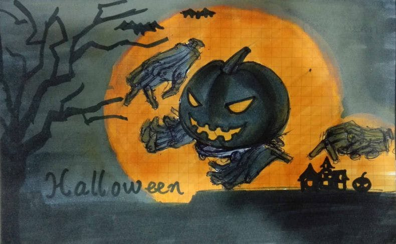 Evil Pumpkin Robot