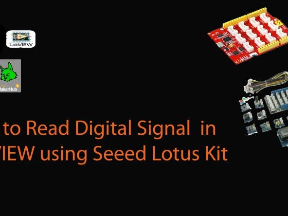 How to read a digital signal in LabVIEW