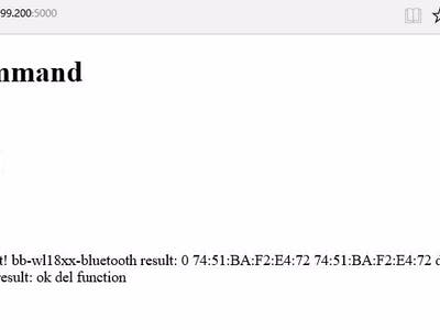 Config BBGw Bluetooth via Web