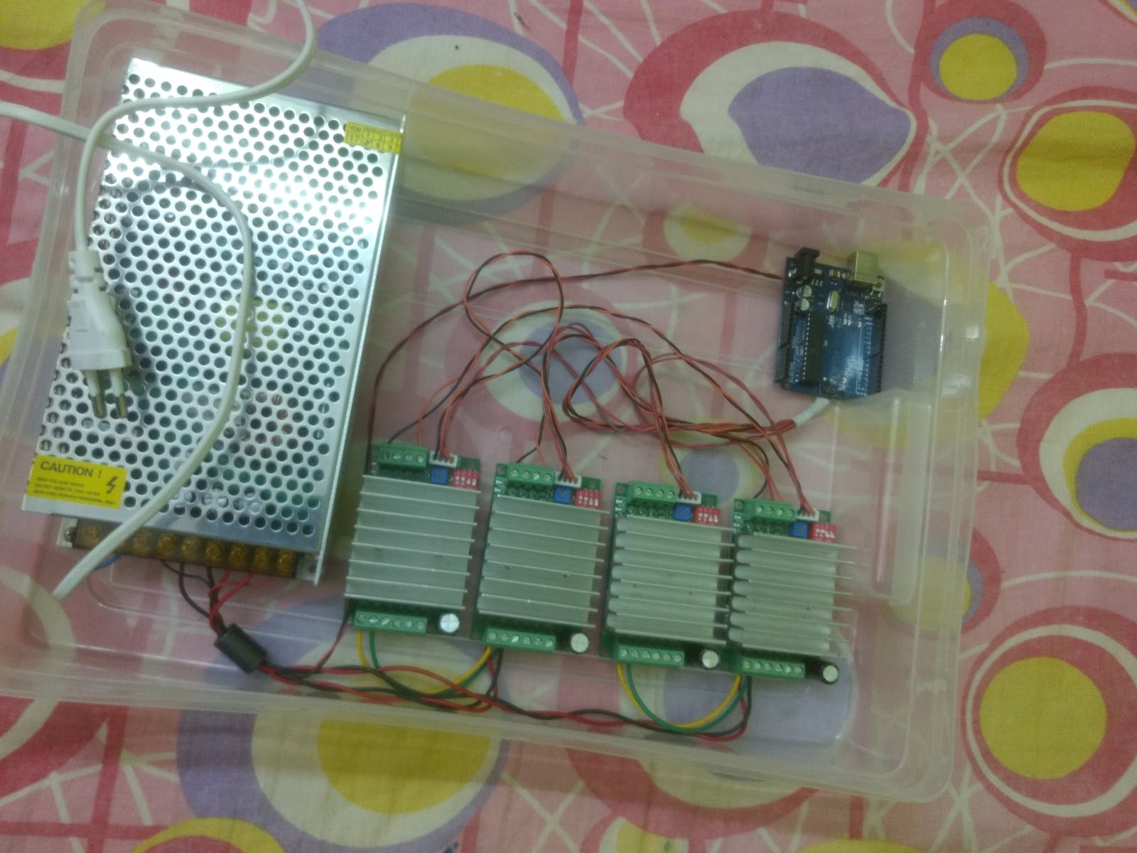 All In A Safe Box with 12v 10A SMPS