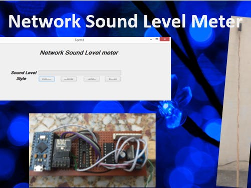 Network VU Sound Level Meter using C#, Arduino and ESP8266
