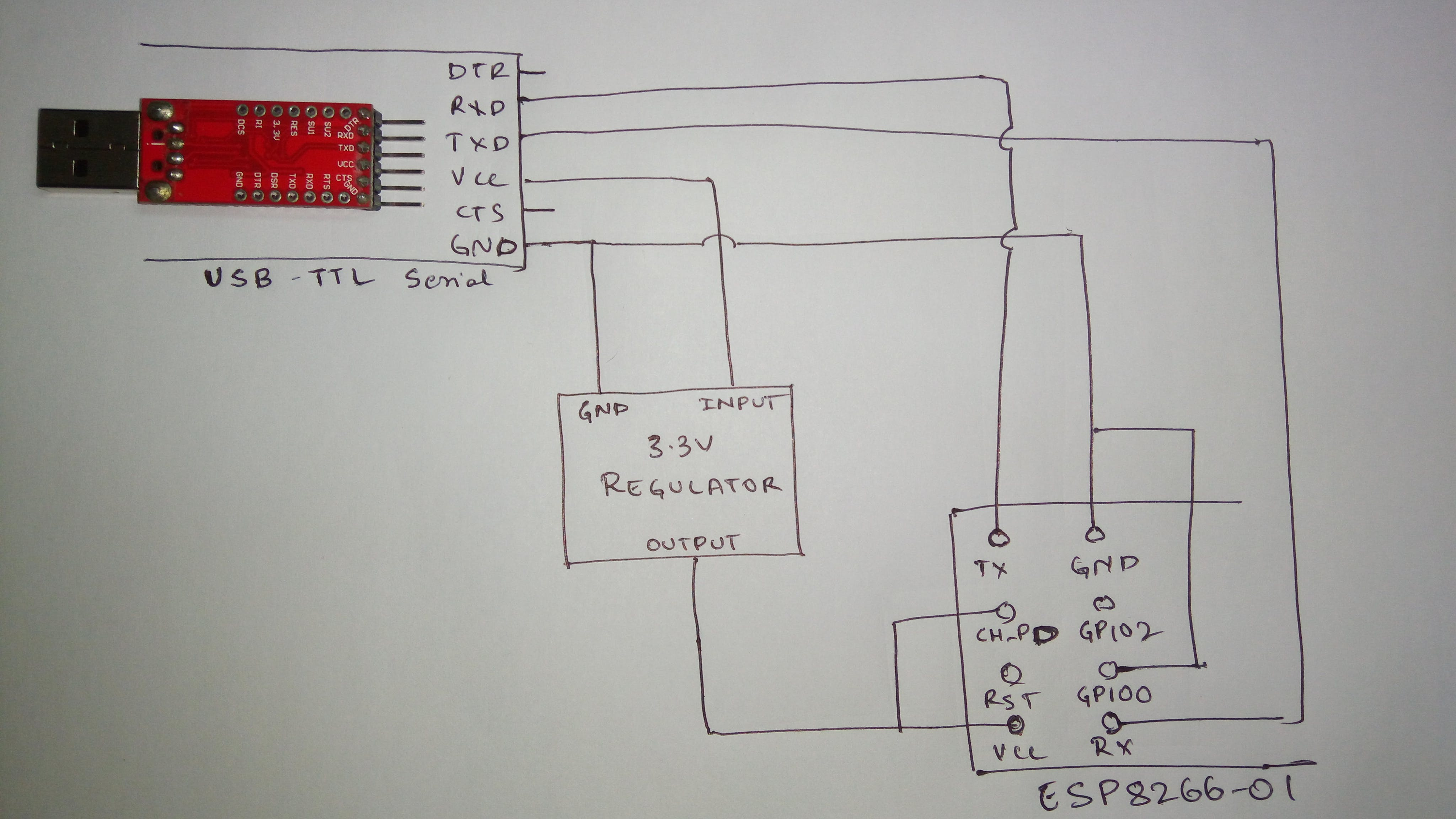 Circuit to Flash ESP8266