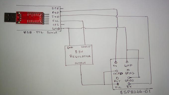 Circuit to Flash ESP8266