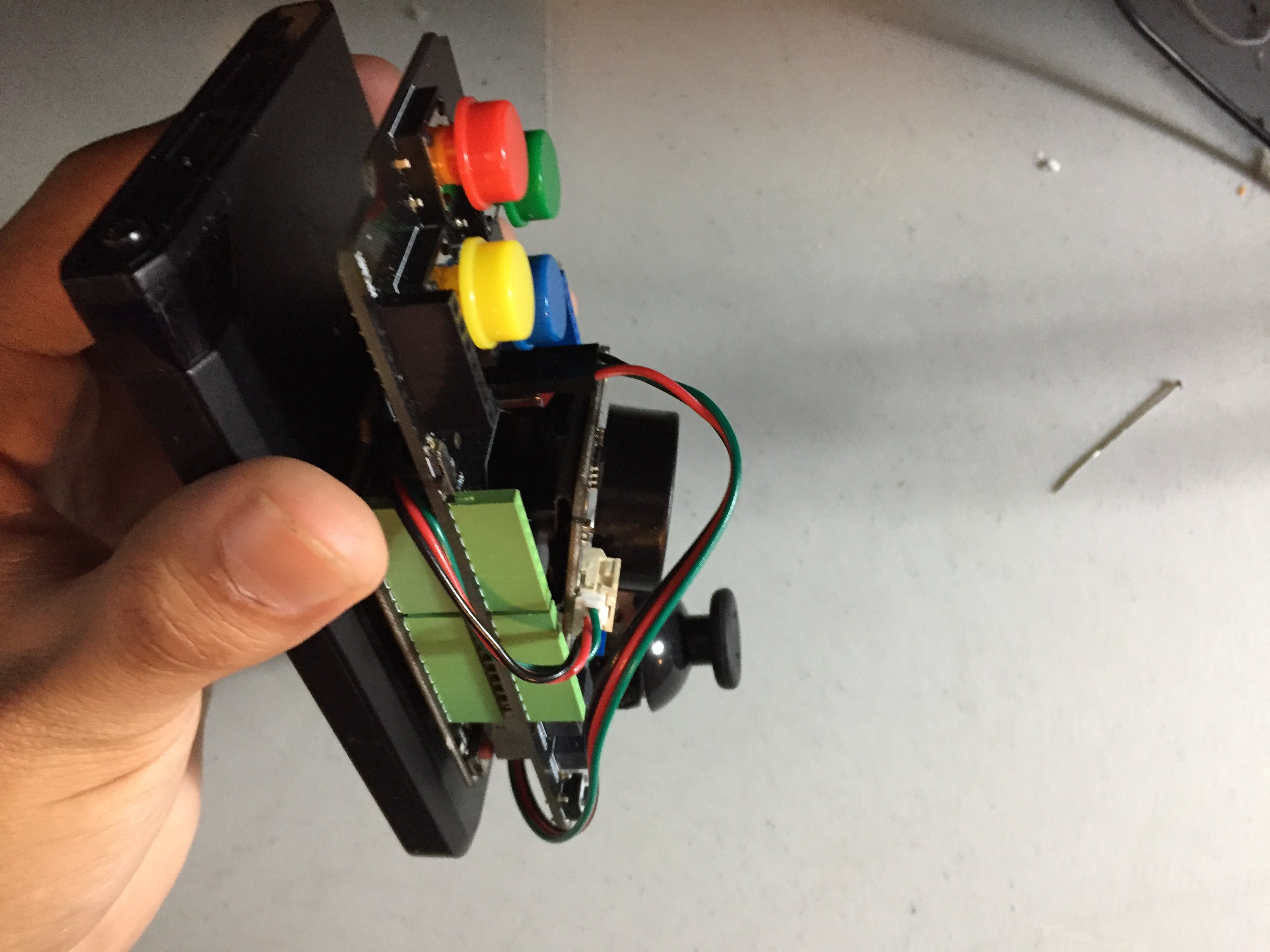Stuck to Battery for Improved Ergonomics