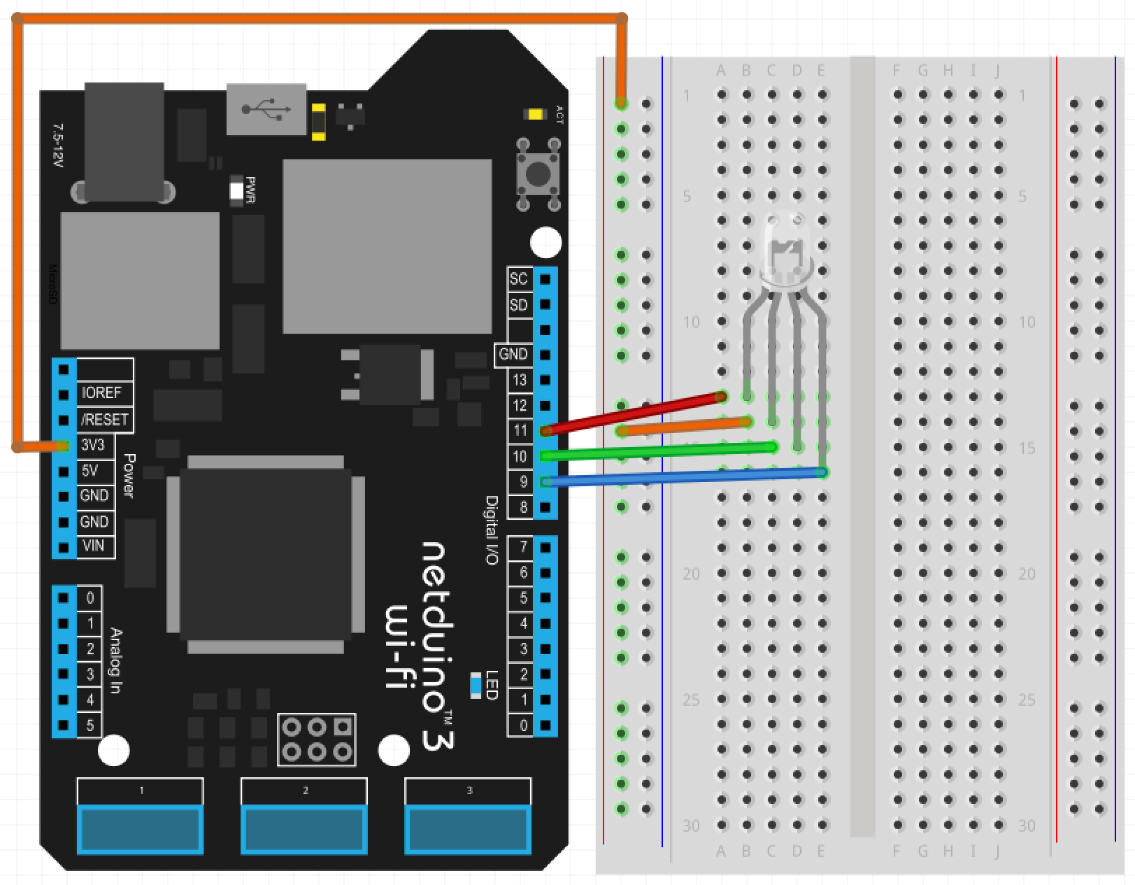 Show Rainbow Colors With An Rgb Led And Netduino 12v Wiring Diagram For Common Anode Circuit Dhwyyfhnla