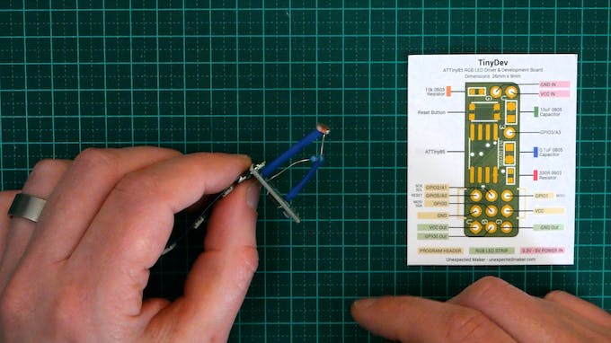 Add heat shrink, then connect it to the microcontroller