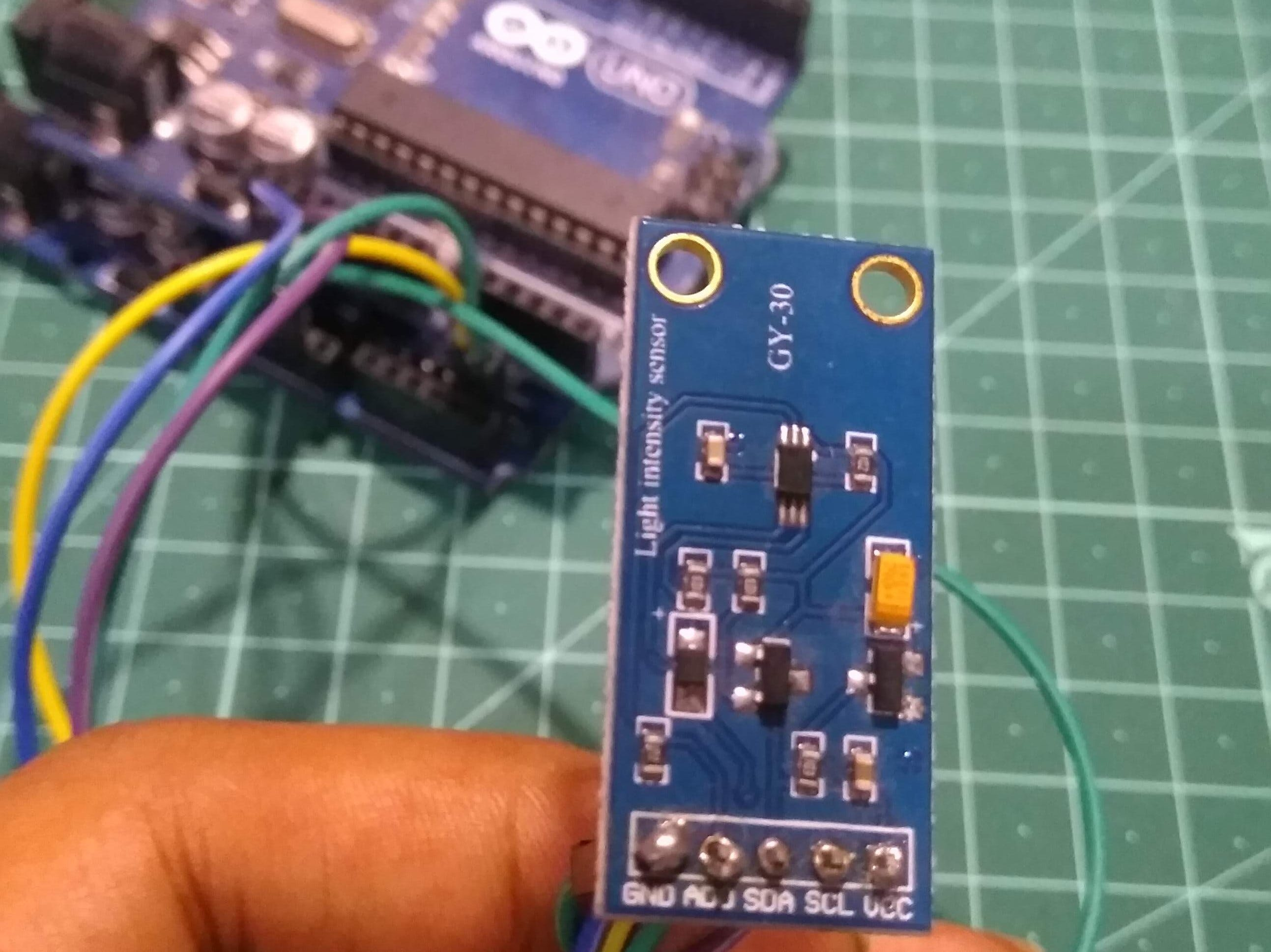 Measure LUX with Arduino Using BH1750