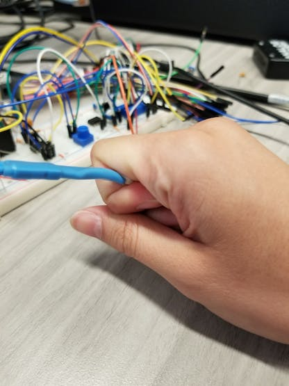 The best method I've found for holding the photoresistor.