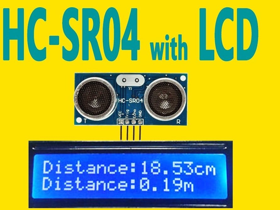 Ultrasonic Sensor with LCD Display Using 433MHz
