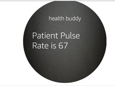 WIZ750SR Based Remote Health Monitoring with Amazon Alexa