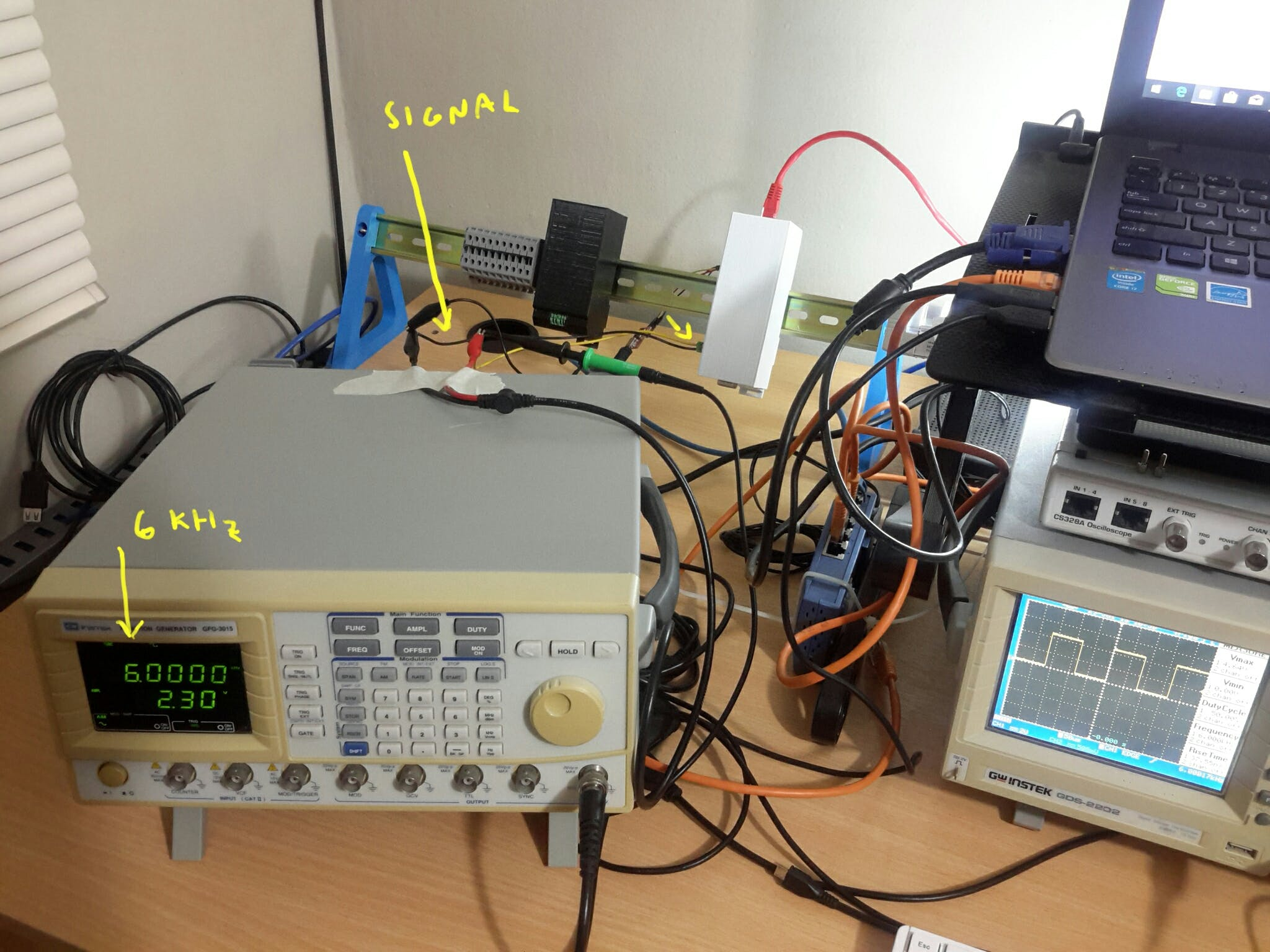 Benchtop Setup for Pulse Input Tests.