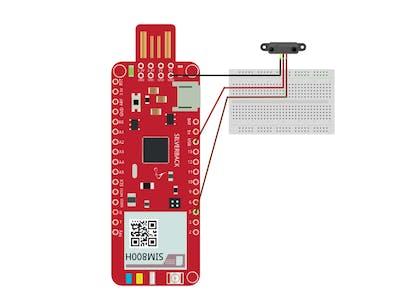 Line Detection Using IR sensor and Surilli GSM