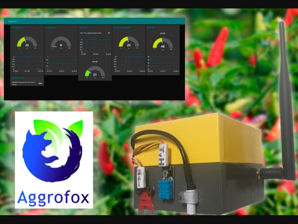 AggroFox: Large-Scale and Urban Agriculture IoT Solution - Arduino