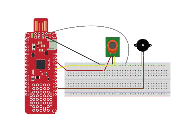 Smoke and Gas Detection Using Surilli Basic M0 and MQ2 - Hackster io