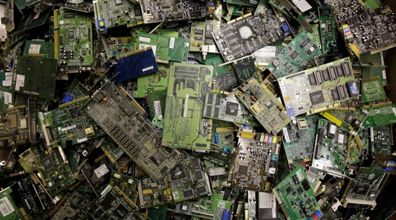 Disposed computer-based components as part of e-waste