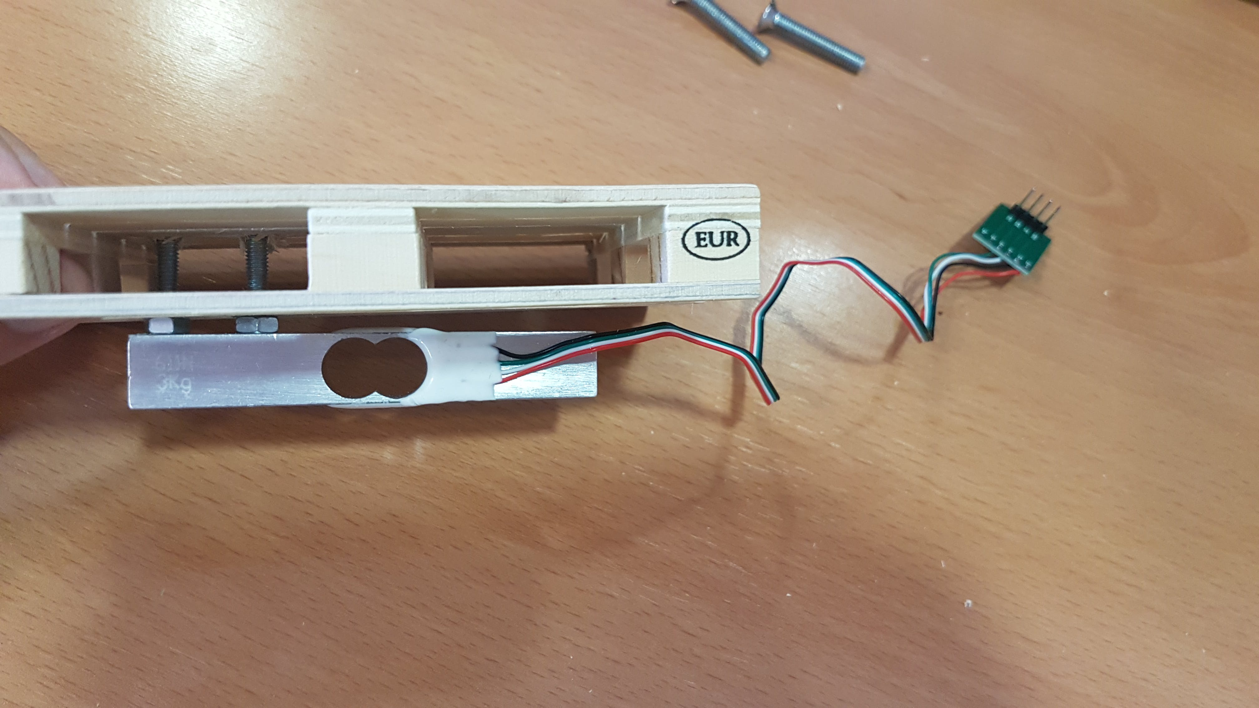 Final result of the upper surface of the load cell sensor (pallet)