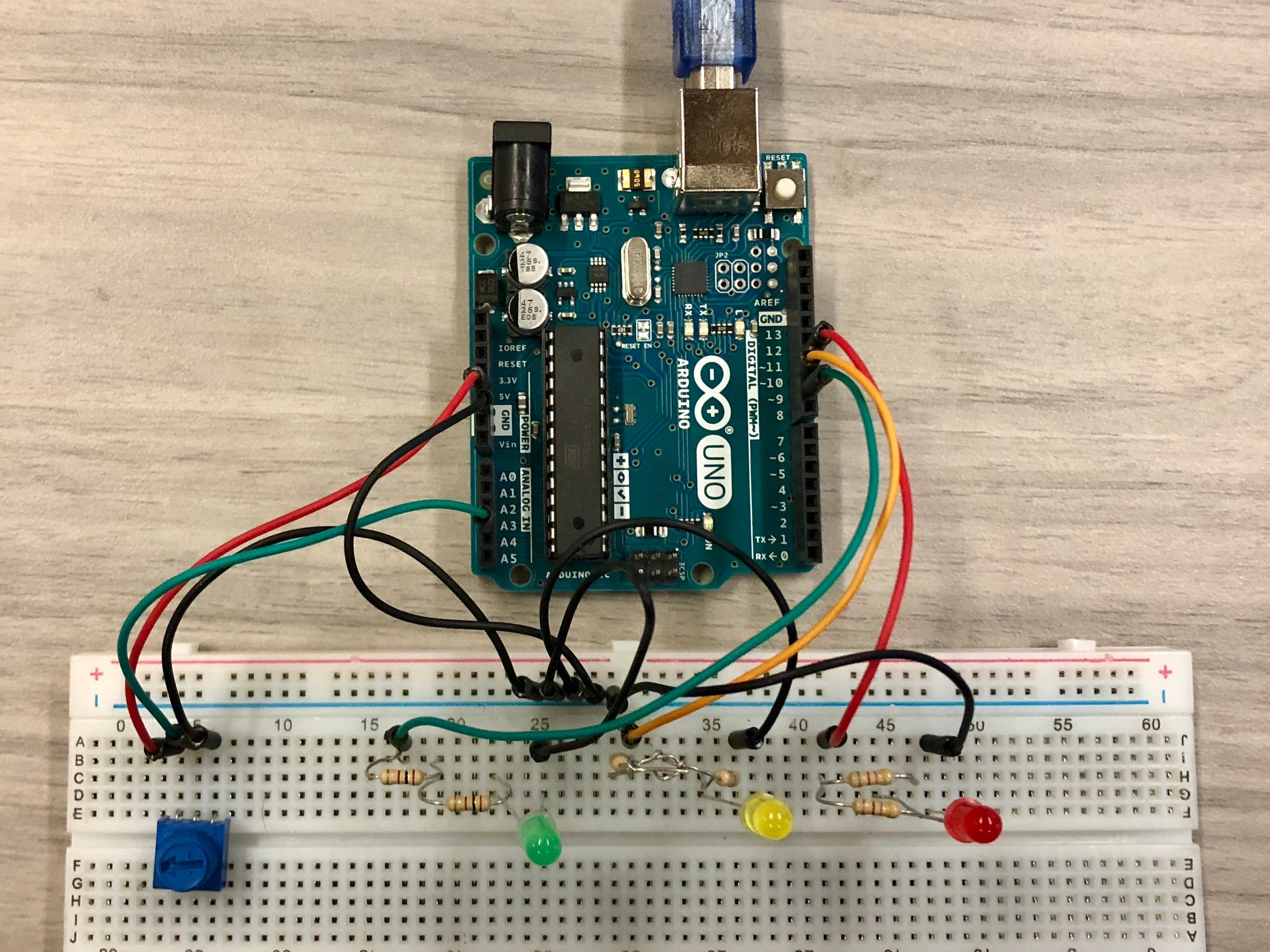 LED Display with Arduino ADC and PWM